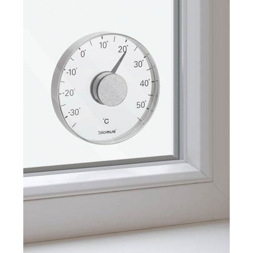 Grado Brushed Stainless Steel Thermometer Window