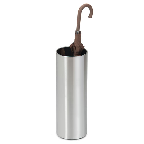 Casa Brushed Stainless Steel Umbrella Stand Solid