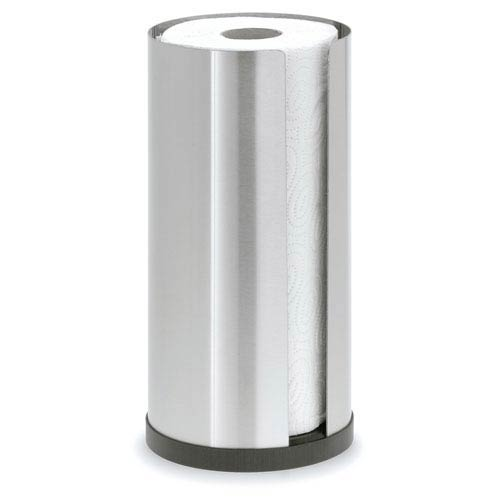 Cusi Brushed Stainless Steel Paper Towel Holder Cylinder