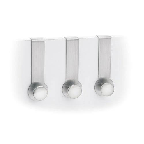 Blomus Muro Brushed Stainless Steel Three Pieace Overdoor Hook Set