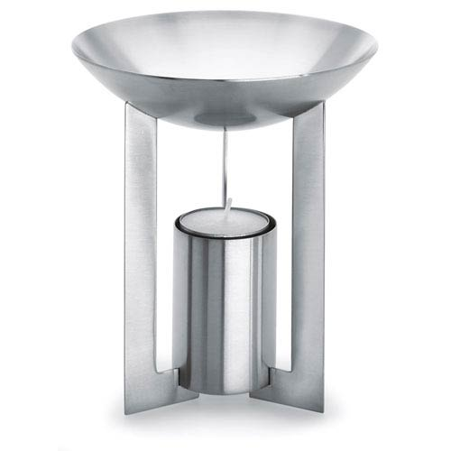 Cino Brushed Stainless Steel Aromatherapy Burner Round
