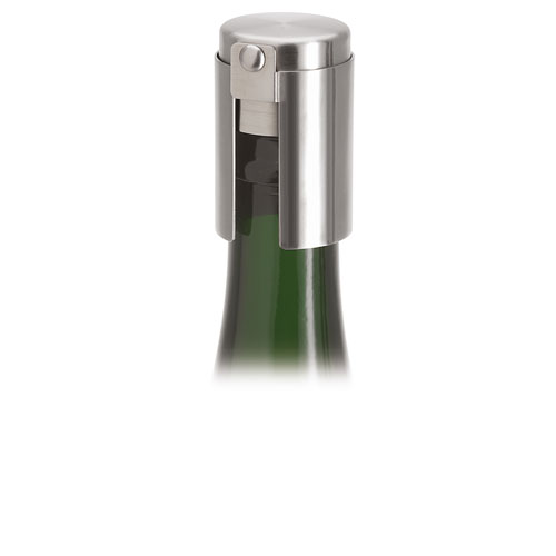 Cino Brushed Stainless Steel Champagne Stopper