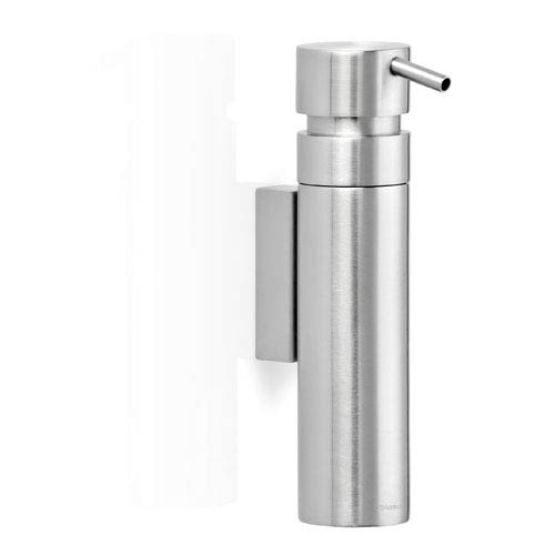 Blomus Nexio Brushed Stainless Steel Wall Soap Dispenser 68682