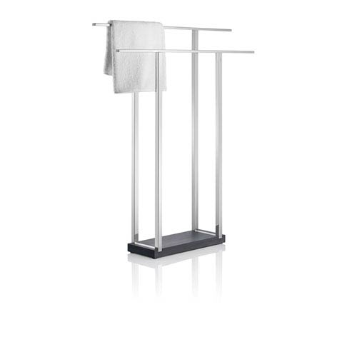 Blomus Menoto Polished Stainless Steel Double Towel Stand