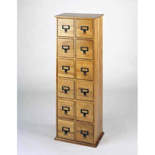 Library Card File Multimedia Cabinet