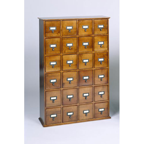 Leslie Dame Enterprises Library Card File Compact Disk Walnut Cabinet  sc 1 st  Bellacor & Walnut Finish Storage Cabinet | Bellacor