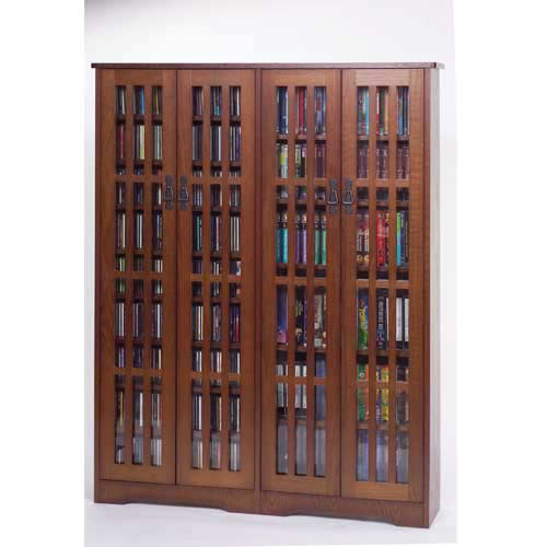 Attrayant Leslie Dame Enterprises Mission High Capacity Large Walnut Multimedia  Cabinet