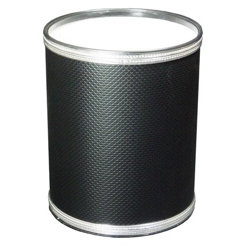 Redmon Company Black and Silver Budget Series Vinyl Round Wastebasket