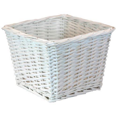 Willow Small White Basket