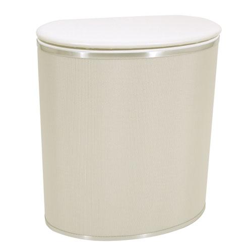 Redmon Company Capri Classic Reflections Pearl White Bowed Front Hamper