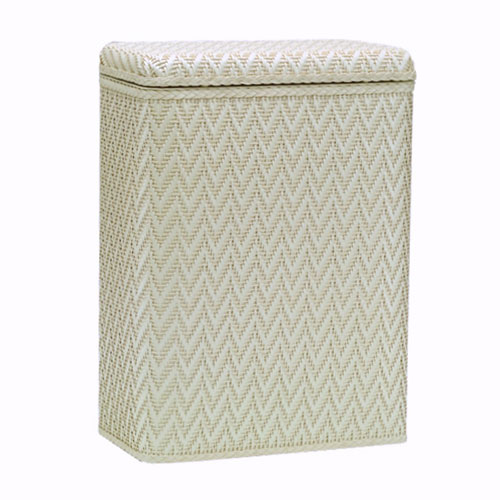 Elegante Cream Decorator Color Wicker Hamper