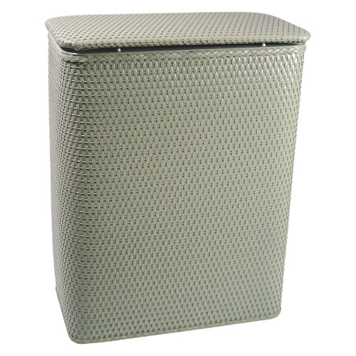 Redmon Company Chelsea Sage Green Decorator Color Wicker Hamper