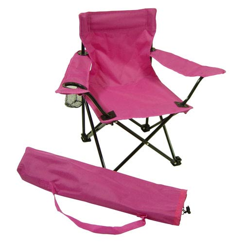 Kids Chairs Pink Folding Camp Chair with Matching Tote Bag