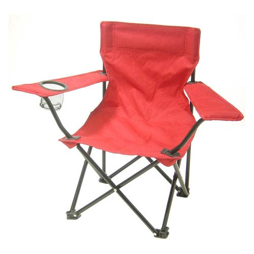Redmon Company Kids Chairs Red Folding Camp Chair with Matching Tote Bag