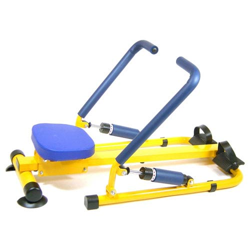 Fun and Fitness Blue and Yellow Multifunction Rower