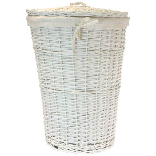 Willow Round White Hamper with White Liner
