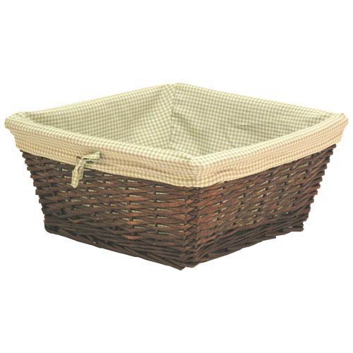 Willow Large Espresso Basket with Sage Liner