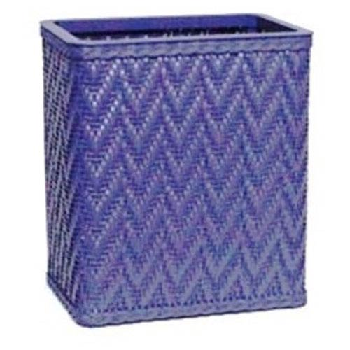Redmon Company Elegante Coastal Blue Decorator Color Wicker Wastebasket