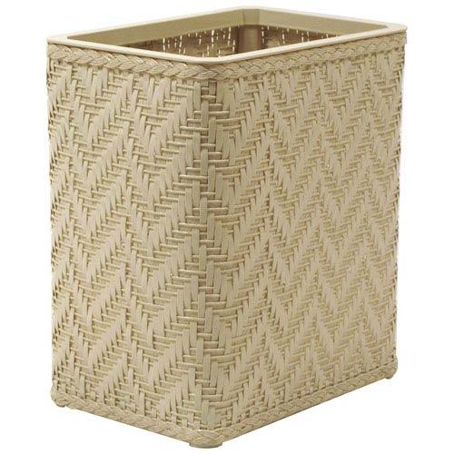 Elegante Cream Decorator Color Wicker Wastebasket