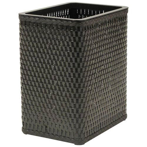 Chelsea Espresso Decorator Color Square Wicker Wastebasket