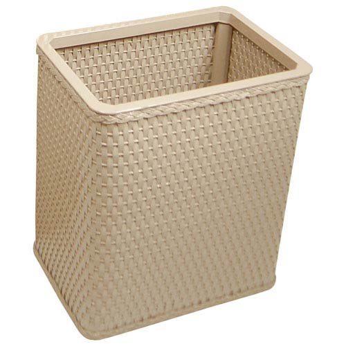 Redmon Company Chelsea Mocha Decorator Color Square Wicker Wastebasket