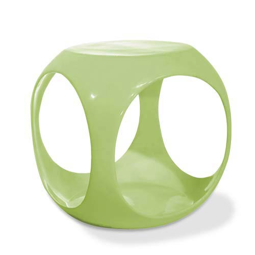 Green Slick Cube Occasional Table