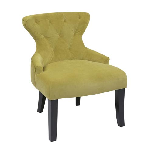 Avenue Six Curves Basil Velvet Hour Glass Chair