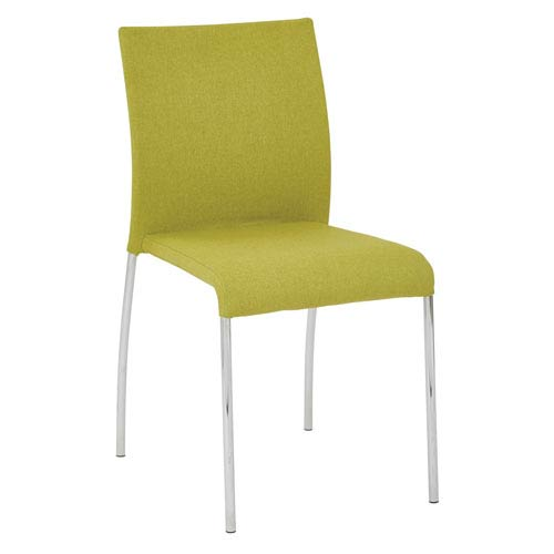 Avenue Six Conway Stacking Chair in Spring Green Fabric, 2-Pack