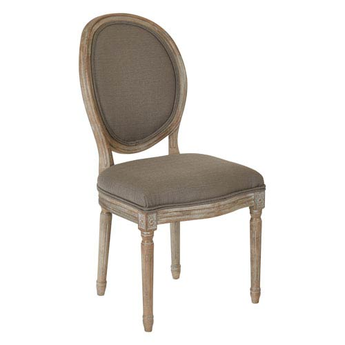 Lillian Oval Back Chair in Klein Otter Brushed Frame