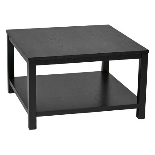 Exceptionnel Avenue Six Merge Black 30 Inch Wide Square Coffee Table