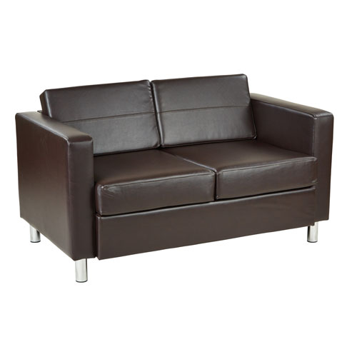 Pacific Loveseat in Espresso Faux Leather