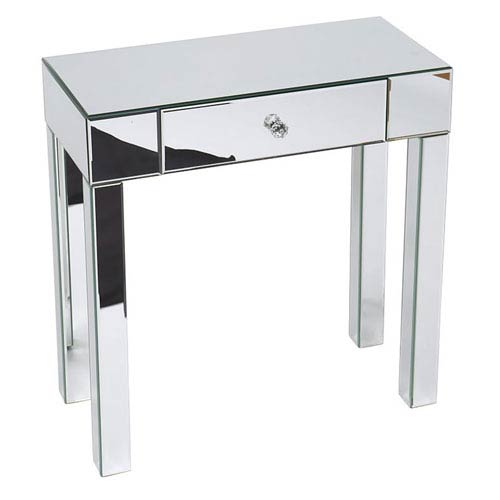 Avenue Six Reflections Silver Mirrored Foyer Table