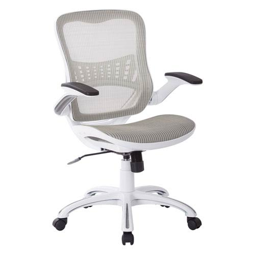 Avenue Six Riley Office Chair With White Mesh Seat And Back