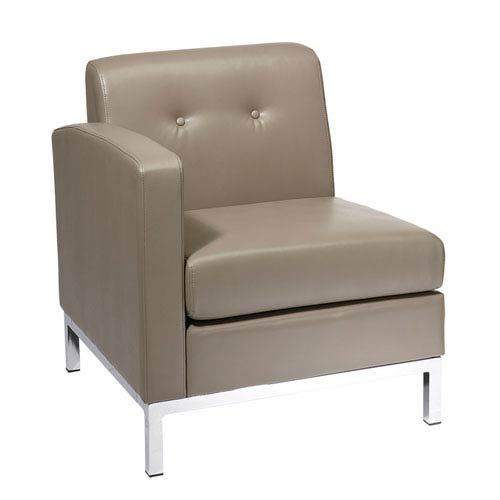 Wall Street LAF Smoke Faux Leather Single Arm Chair