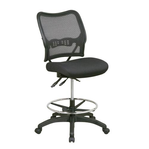 Space Seating Deluxe Ergonomic AirGrid Back Drafting Chair with Mesh Seat