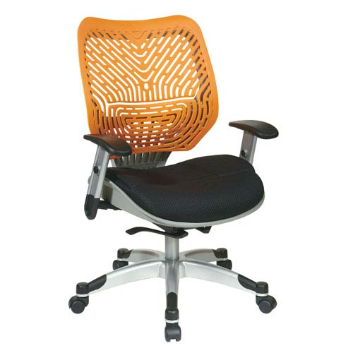 Office Star Products Space Seating Unique Self Adjusting Tang SpaceFlex  Back And Raven Mesh Seat Managers