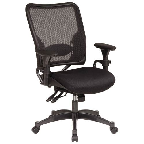 Office Star Products Space Seating Contemporary Leather Executive Chair