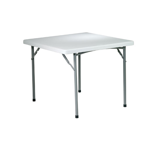 Work Smart 36 Inch Square Resin Table