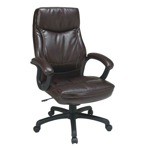 Executive Mocha High Back Eco Leather Chair with Locking Tilt Control