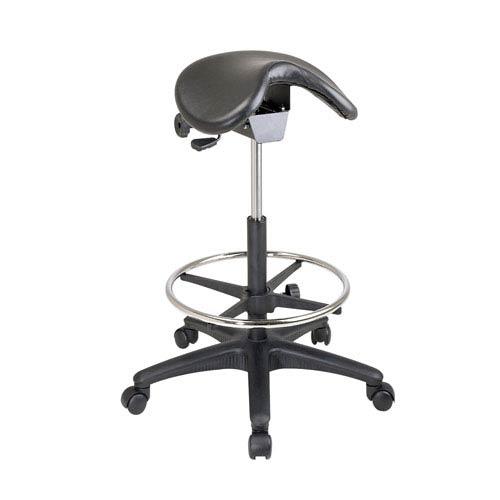 Executive Black Pneumatic Drafting Chair