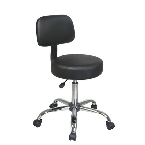 Work Smart Pneumatic Drafting Chair with Black Vinyl Stool