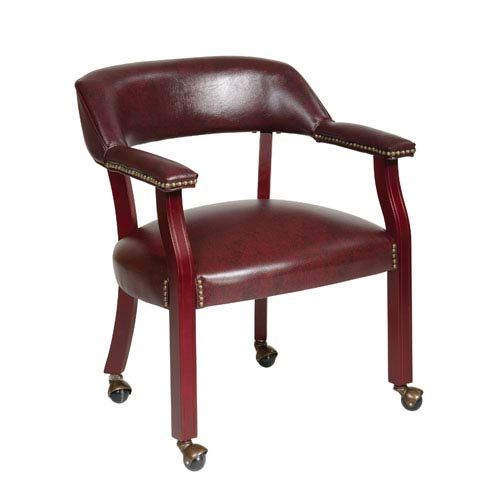 Work Smart Traditional Guest Chair with Wrap Around Back and Casters