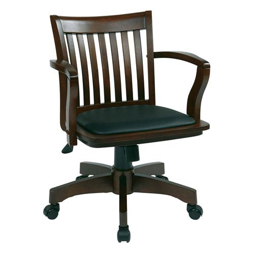 Office Star Products Espresso Wood Bankers Chair