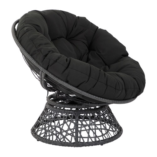 Papasan Chair with Black cushion and Black Frame
