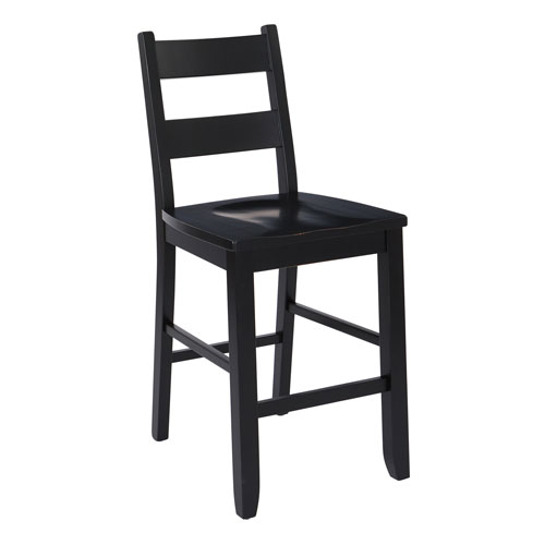 Kitchen Counter Matching Stool in Black