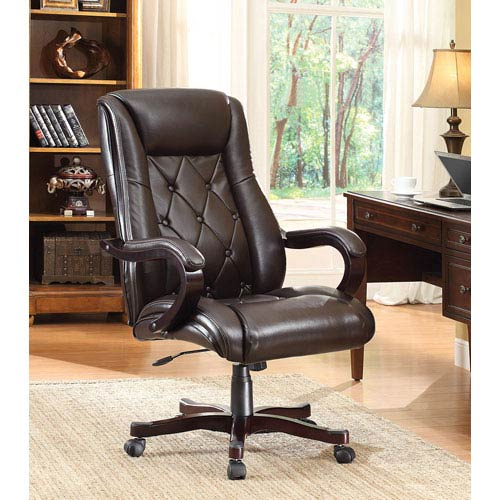 Office Star Products Inspired By Bett Chapman Espresso Executive Chair