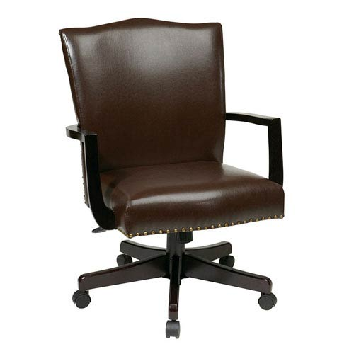 INSPIRED by Bassett Morgan Espresso Manager's Chair