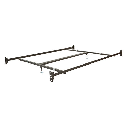 Bed Rails in Dark Brown Finish for Queen Size Bed