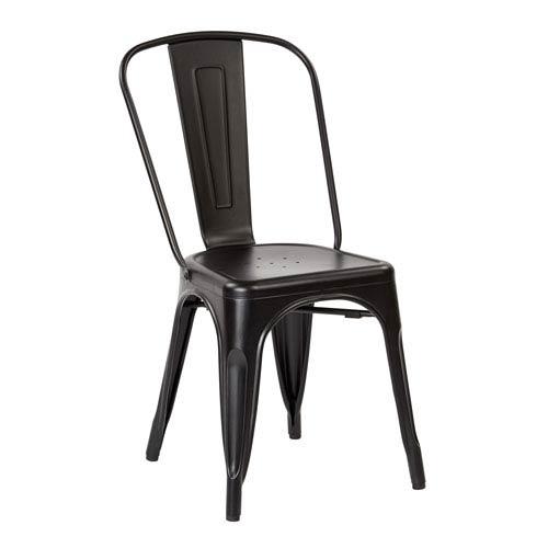 Bristow Matte Black Armless Chair, Set of 2