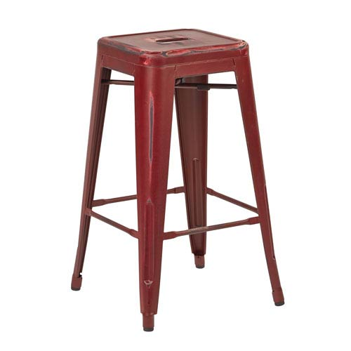 Office Star Products Bristow Dark Red 26 Inch Barstool Set Of 4
